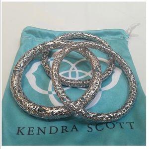 Kendra Scott silver bangles